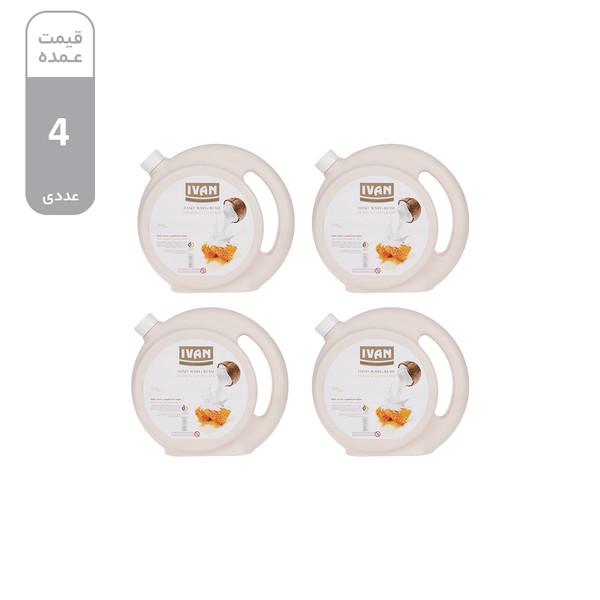 مایع دستشویی ایوان مدل Hony and Coconut مقدار 3.5 کیلوگرم بسته 4 عددی