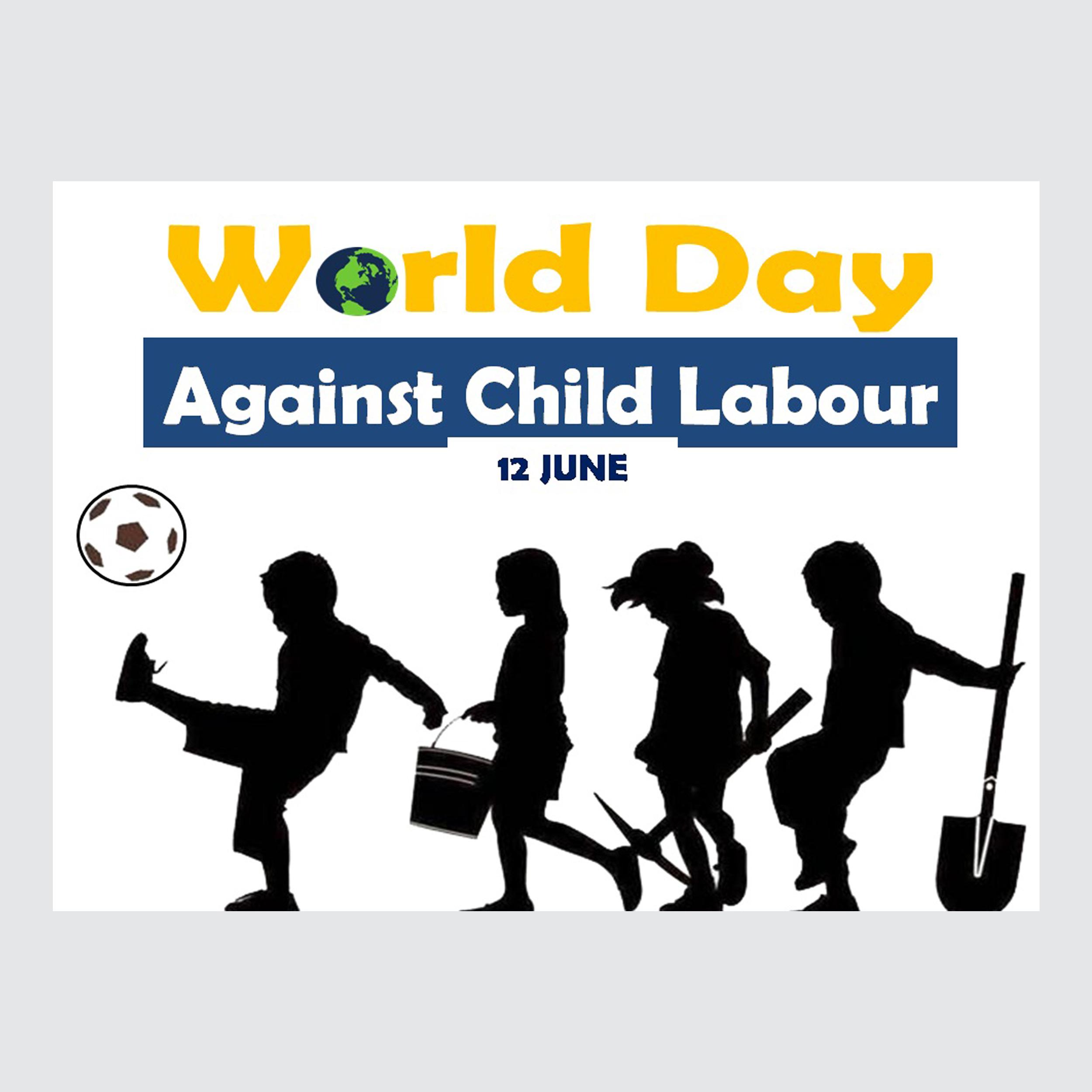 کارت پستال ماهتاب طرح روز مبارزه با کار کودکان کد 2419