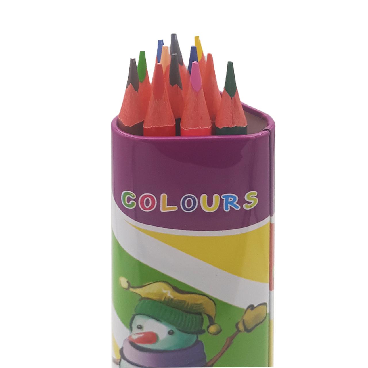 مداد رنگی 12 رنگ اسکول مکس مدل AF4
