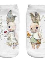 جوراب بچگانه طرح خرگوش مهربان -  - 1