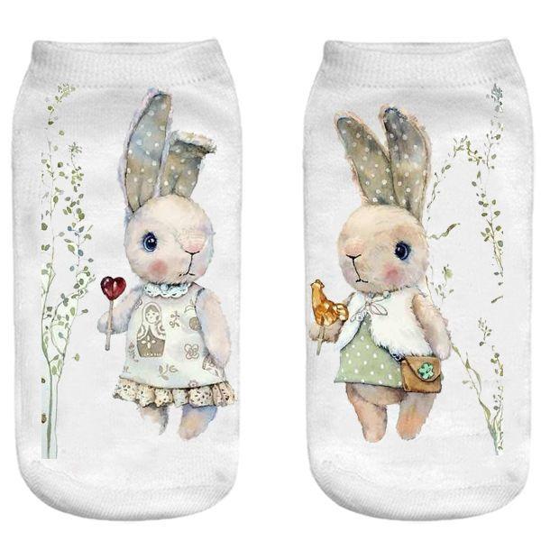 جوراب بچگانه طرح خرگوش مهربان -  - 2