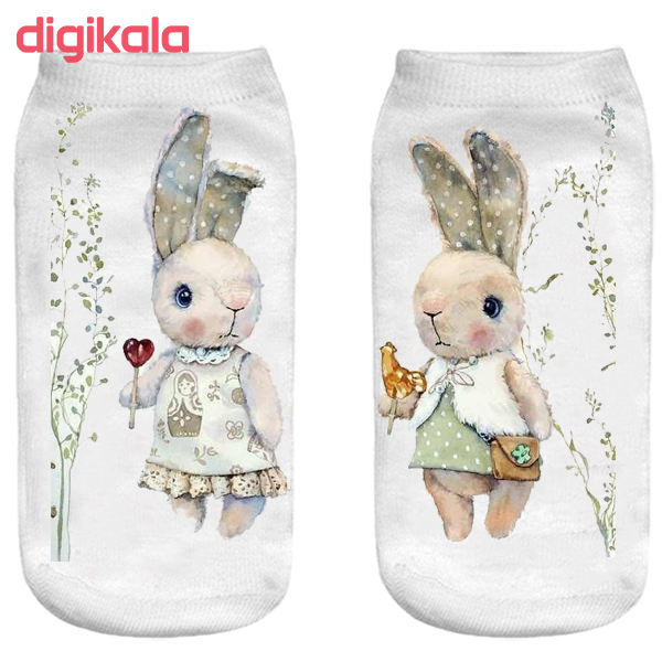 جوراب بچگانه طرح خرگوش مهربان main 1 1