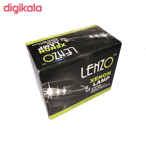 کیت و لامپ زنون لنزو مدل H1 بسته دو عددی main 1 2