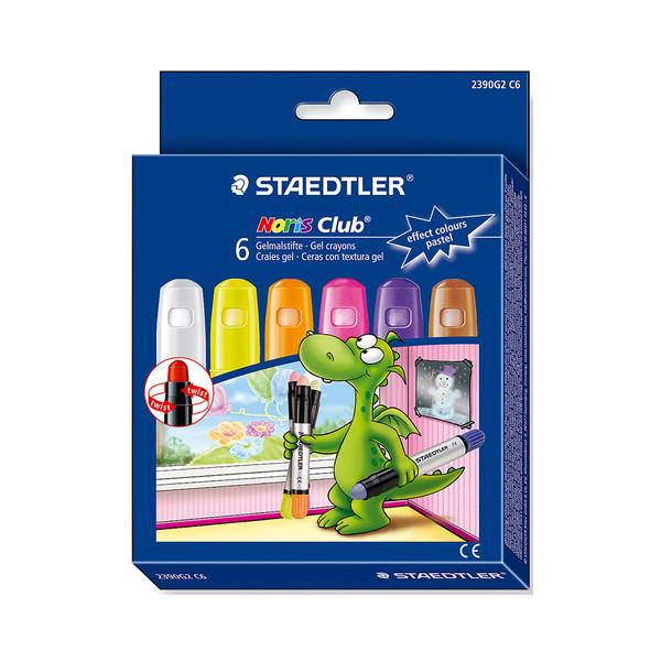 مداد شمعی 6 رنگ استدلر مدل norıs club gel crayon
