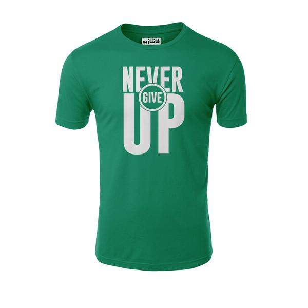 تیشرت آستین کوتاه مردانه فانتازیو طرح Never Give UP مدل 151کد SBM053