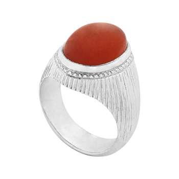 انگشتر نقره مردانه کد R202PAgat