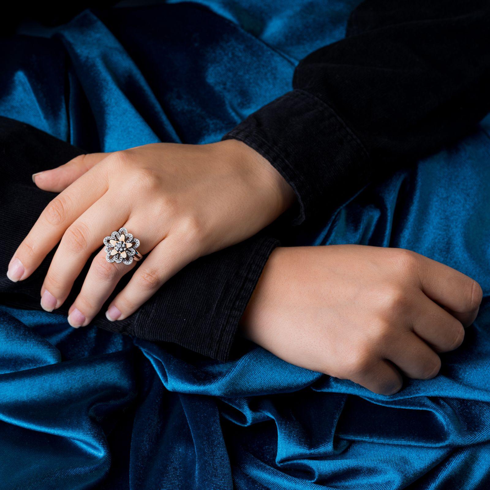 انگشتر طلا 18 عیار جواهری سون مدل 1707 -  - 4