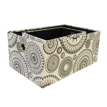 جعبه ارگانایزر هوم اند لایف مدل سابین طرح دایره و گل فانتزیمجموعه 2 عددی