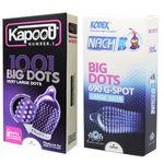 کاندوم ناچ کدکس مدل BIG DOTS بسته 10 عددی به همراه کاندوم کاپوت مدل BIG DOTS بسته 10 عددی thumb