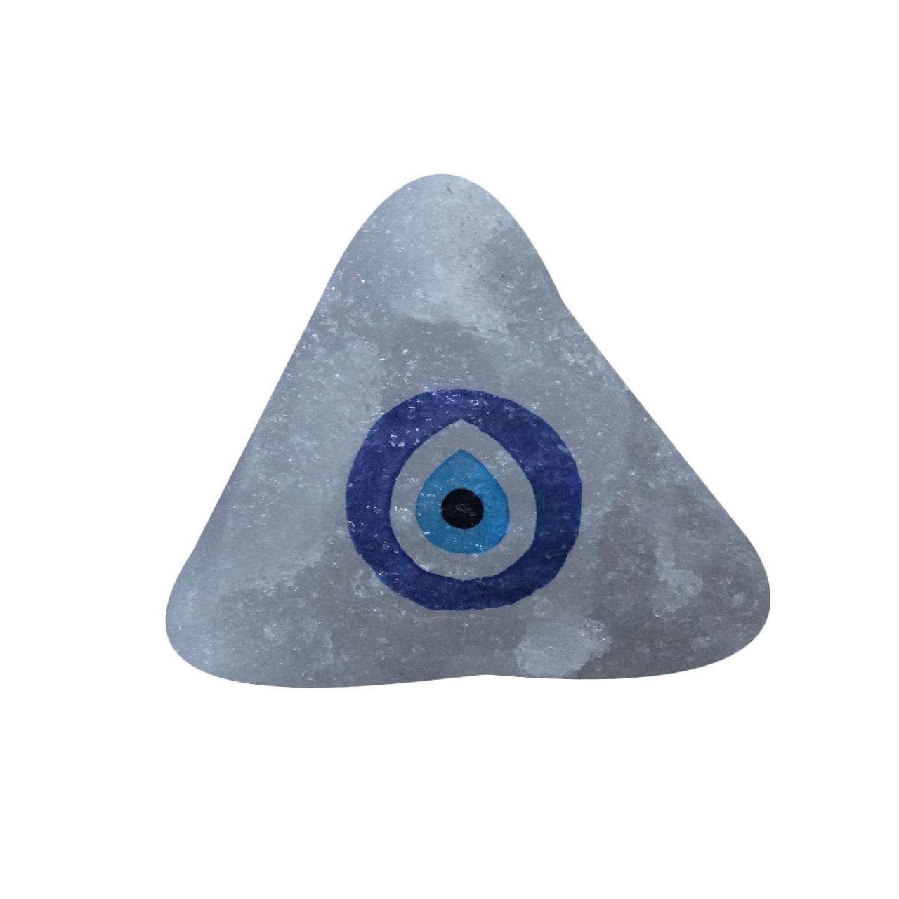 سنگ نمک دکوری طرح چشم زخم کد SNC01