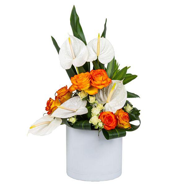 سبد گل طبیعی مدل آراسته