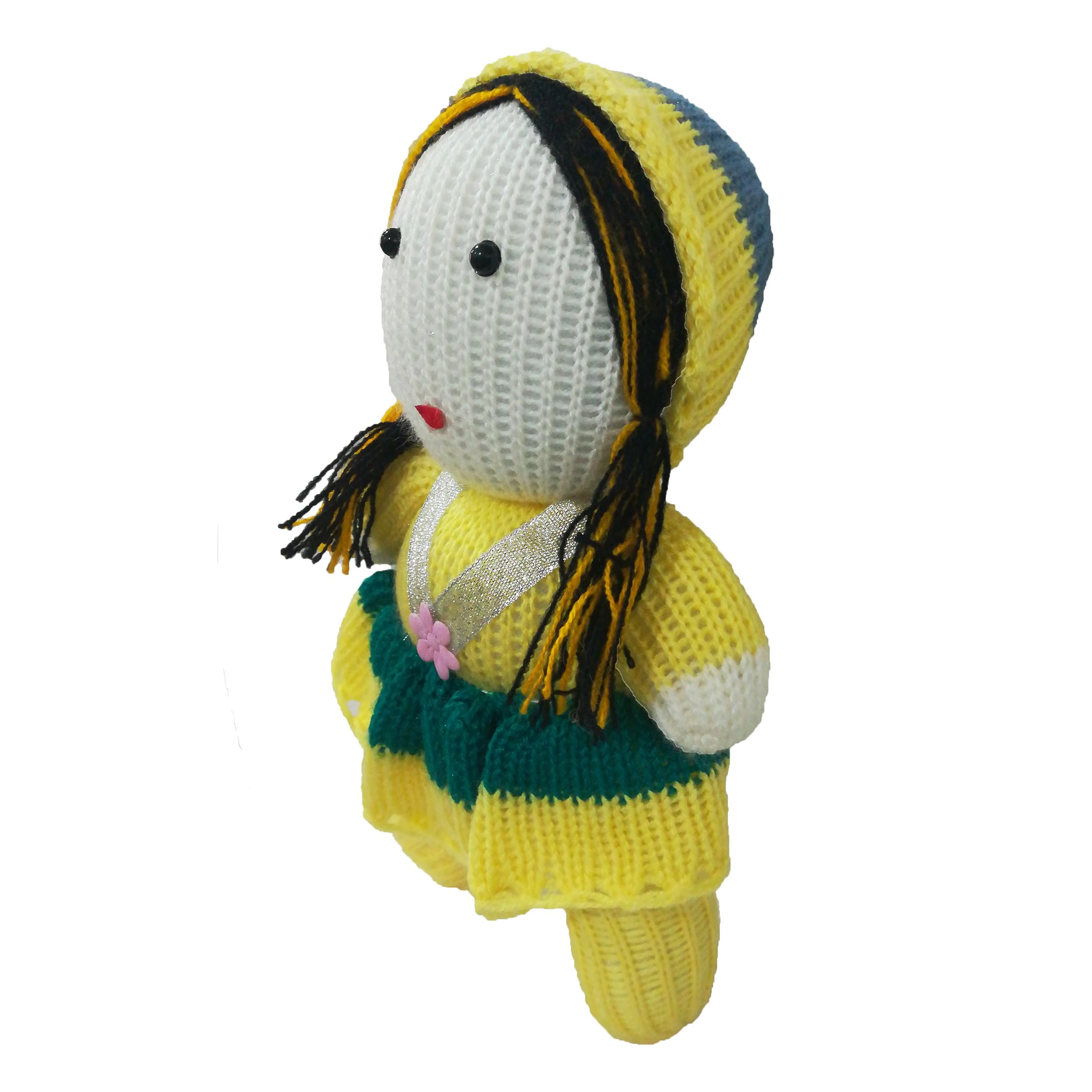عروسک مدل دختر کلاه به سر کد B03 ارتفاع 21 سانتی متر