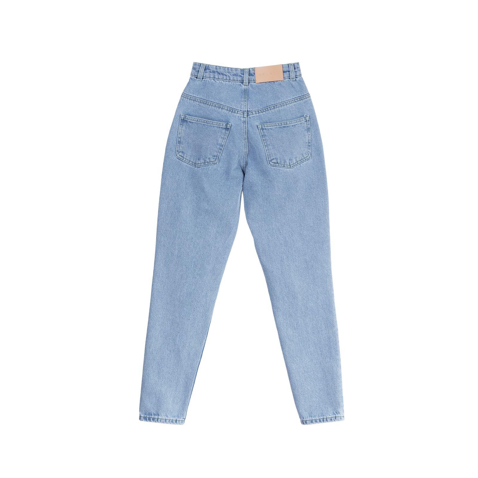 شلوار جین زنانه کوی مدل نامادری رنگ آبی روشن -  - 2