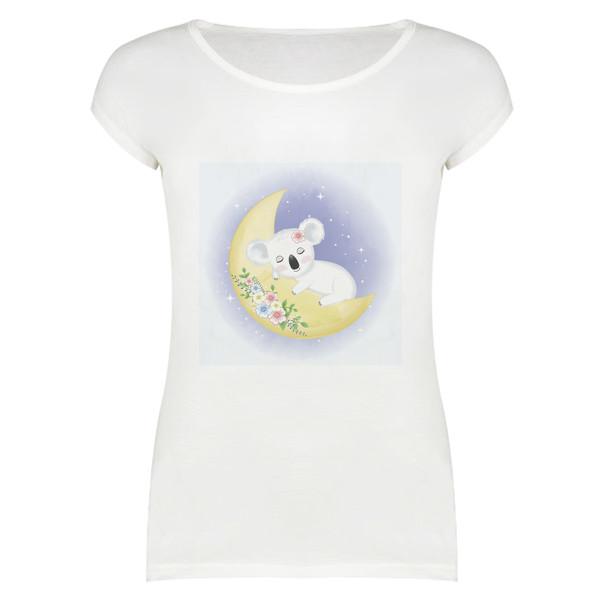 تی شرت زنانه طرح کوآلا کد 4160