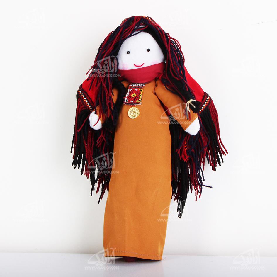عروسک پارچه ای دست دوز  رنگ قهوه ای روشن طرح بی بی نار مدل 1606800004