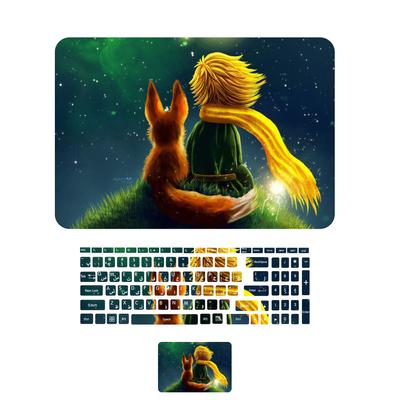 استیکر لپ تاپ طرح شازده کوچولو کد 02 مناسب برای لپ تاپ های 15 تا17 اینچی به همراه برچسب حروف فارسی کیبورد