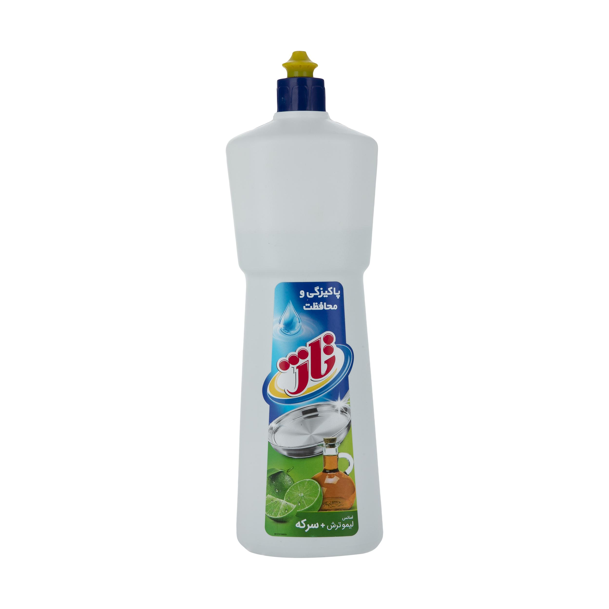 مایع ظرفشویی تاژ حاوی سرکه با رایحه لیمو سبز مقدار 1 کیلوگرم
