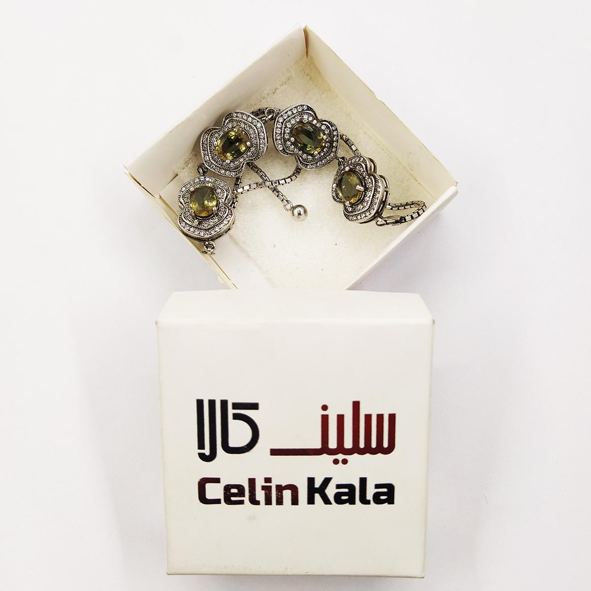 دستبند نقره زنانه سلین کالا مدل الکساندریت ce-As125