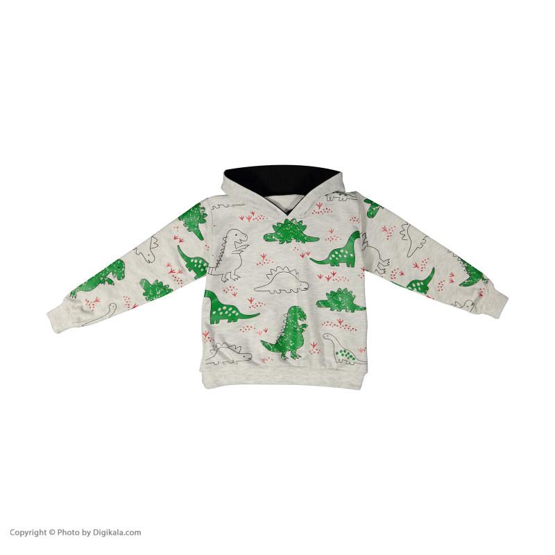 ست هودی و شلوار پسرانه خرس کوچولو مدل 2011158-93