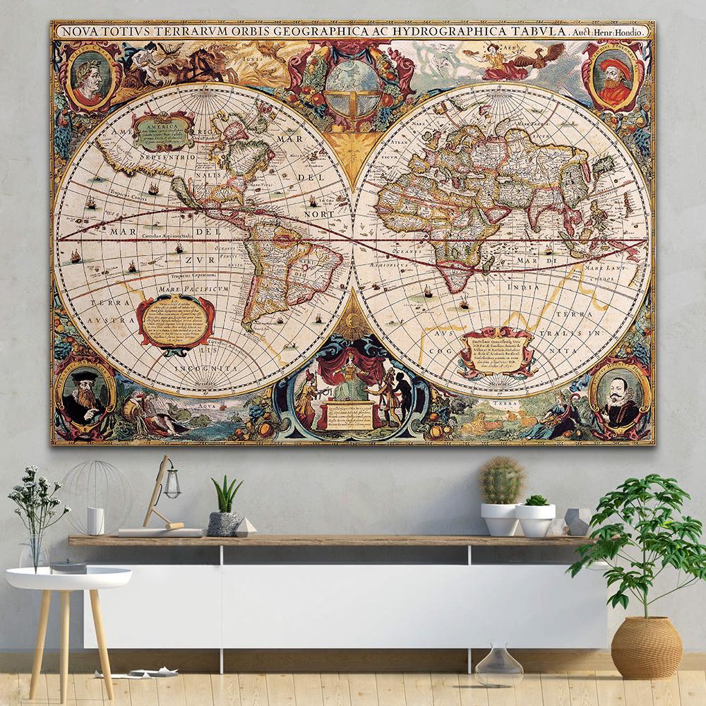تابلو بوم مدل نقشه جهان کد MN13