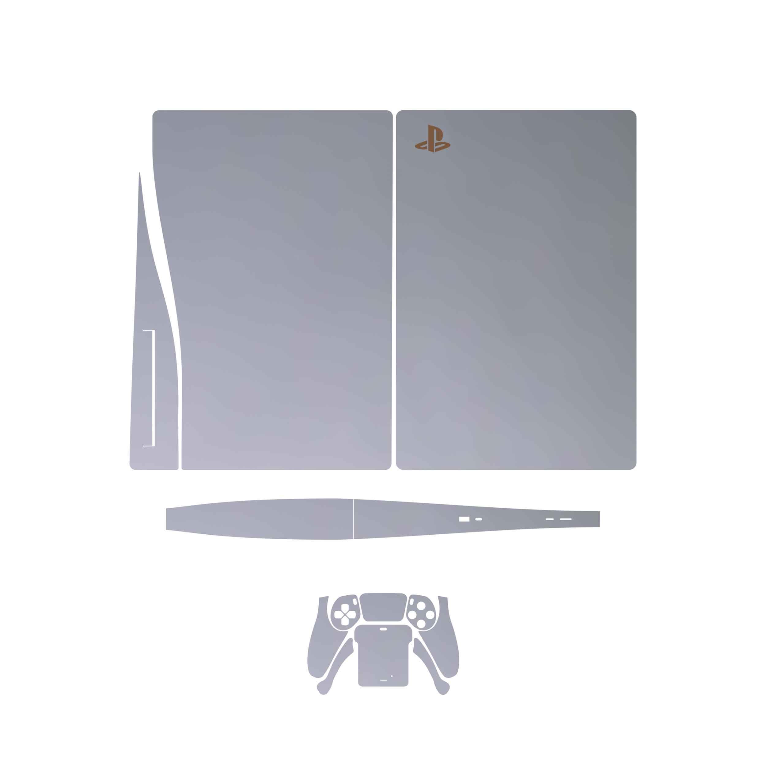 بررسی و {خرید با تخفیف} برچسب کنسول و دسته بازی PS5 ماهوتمدل Matte-Silver اصل