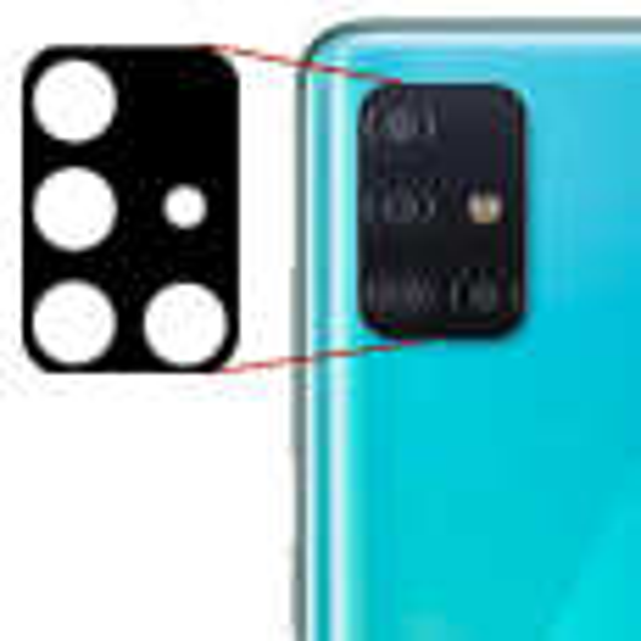 محافظ لنز دوربین مدل Ne-1 مناسب برای گوشی موبایل سامسونگ Galaxy A71 thumb 2