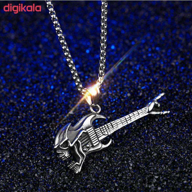گردنبند مردانه طرح گیتار راک مدل 4344 main 1 2