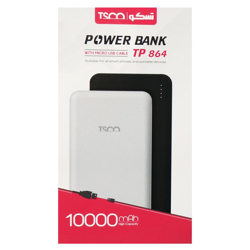 شارژر همراه تسکو مدل TP-864 ظرفیت ۱۰۰۰۰میلی آمپر ساعت