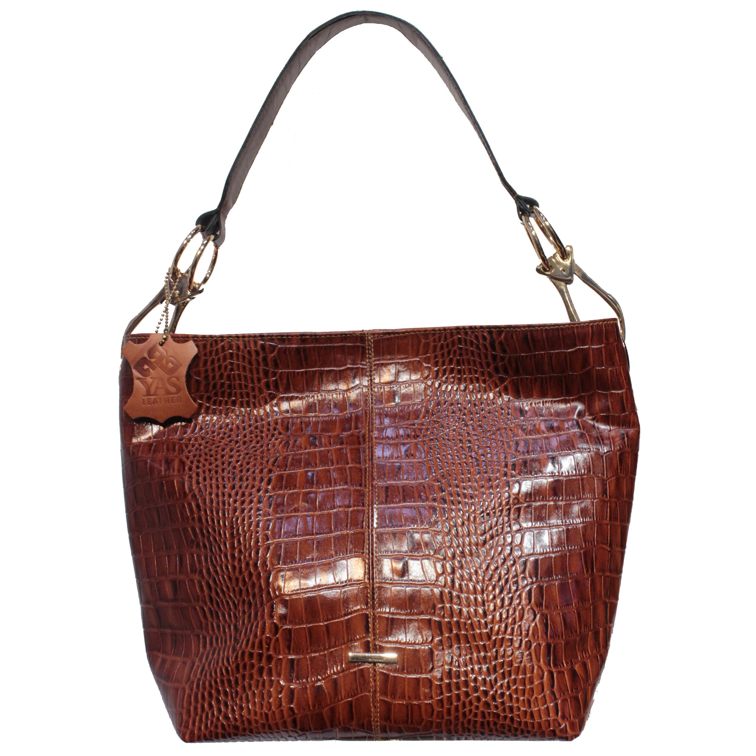 کیف دوشی زنانه چرم یاس مدل 009