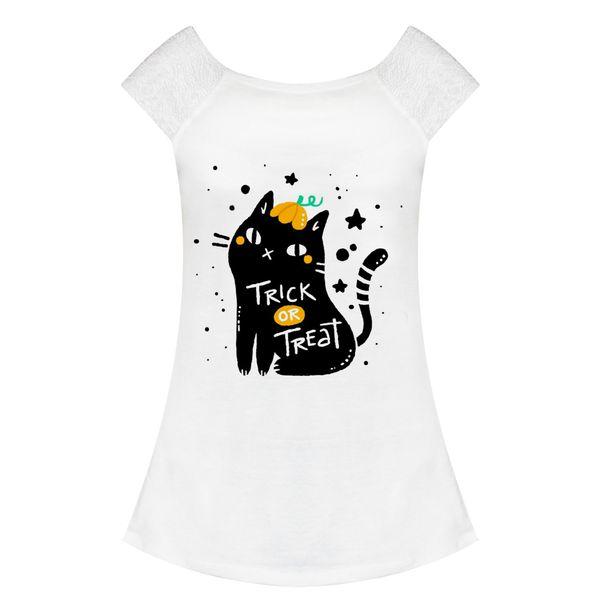 تی شرت زنانه مدل گربه کد f1544w
