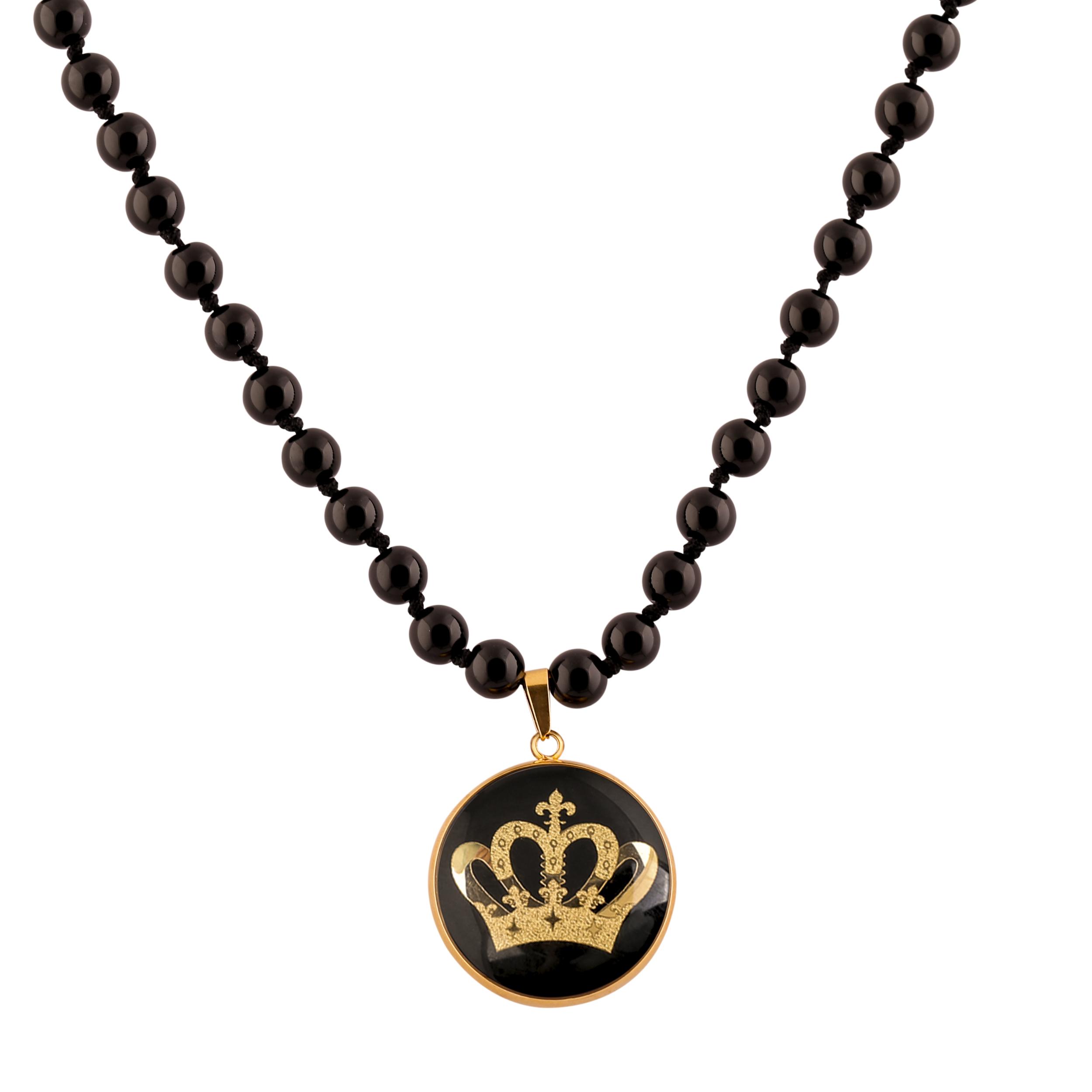 گردنبند زنانه الون طرح تاج ملکه کد ONI 101