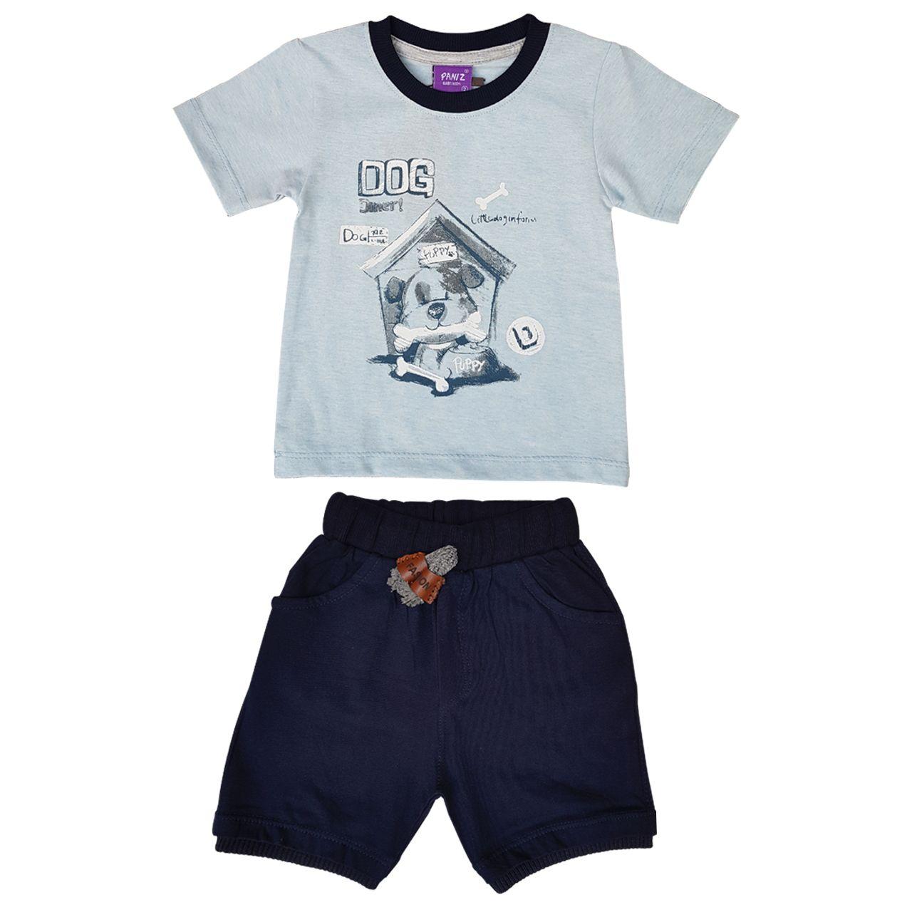 ست تیشرت و شلوارک نوزادی پسرانه کد PE -  - 2