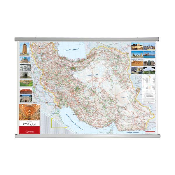 نقشه راههای ایران گیتاشناسی نوین کد 1454
