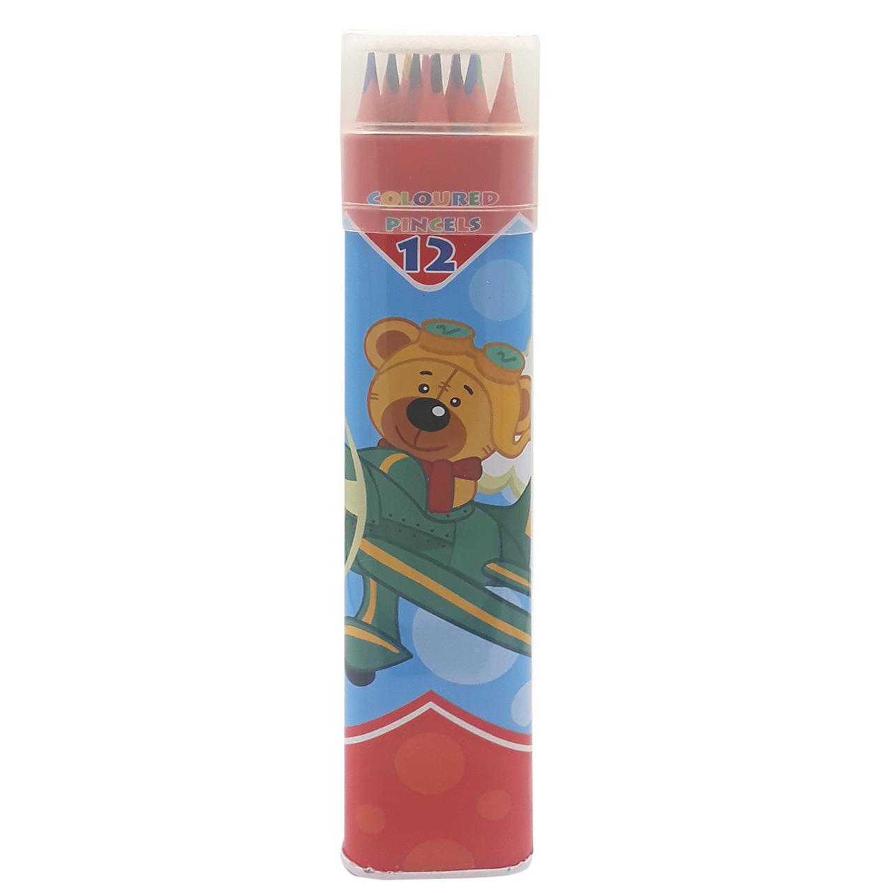 مداد رنگی 12 رنگ اسکول مکس مدل AF2