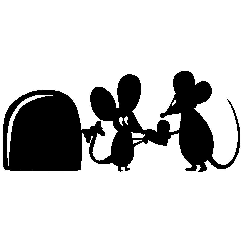 استیکر فراگراف کلید و پریز FG طرح موش کد 054
