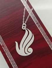 گردنبند نقره زنانه ترمه 1 طرح الله کد mas 0018 -  - 2