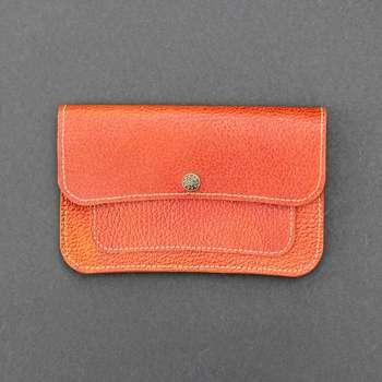 کیف پول زنانه چرم بیسراک مدل لامین کد KPZ-202