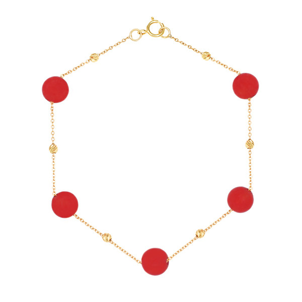 دستبند طلا 18 عیار زنانه گالری مرجان مدل 1086