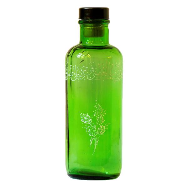 بطری شیشه ای مدل ویترای طرح دستنویسه کد1191