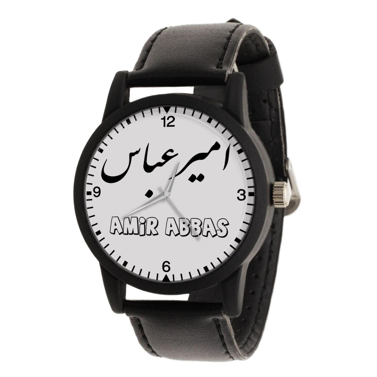 قیمت و خرید                      ساعت مچی عقربه ای مردانه طرح امیر عباس کد LF3015