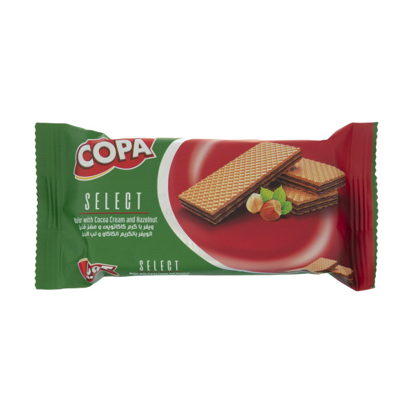 ویفر  سلکت کوپا با کرم کاکائو و مغز فندق - 48 گرم