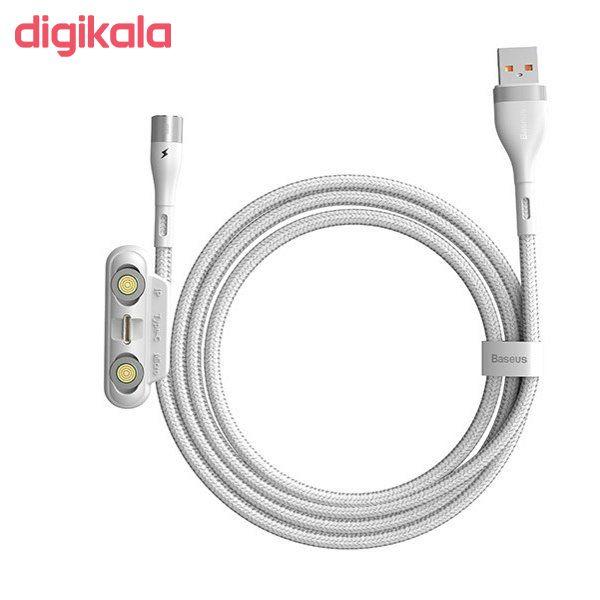 کابل تبدیل USB به USB-C/microUSB-لایتنینگ باسئوس مدل CA1T3-AG1 طول 1 متر main 1 3