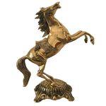 مجسمه دکوری برنجی مدل اسب سرکش کد ۸۵