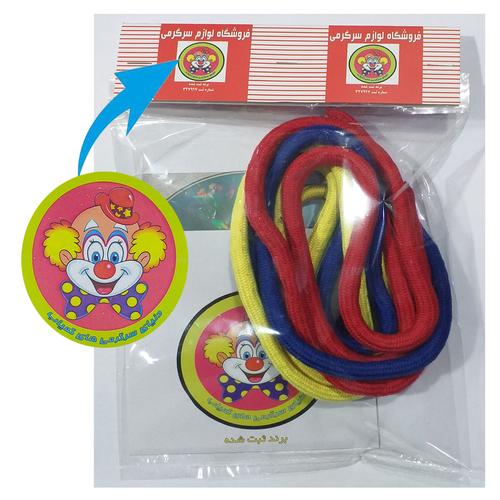 ابزار شعبده بازی دنیای سرگرمی های کمیاب طرح طنابهای رنگی سحرآمیز مدل DSK3790 مجموعه 3 عددی