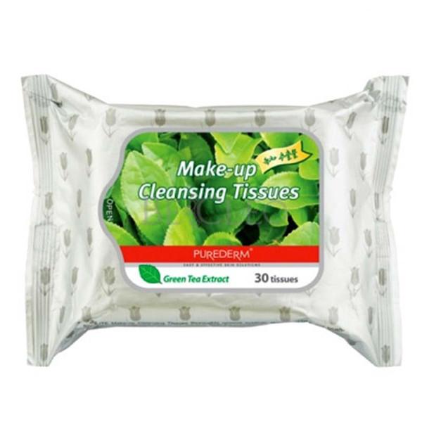 دستمال مرطوب پیوردرم مدل چای سبز بسته 30 عددی