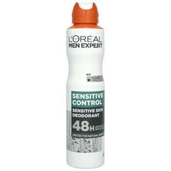 اسپری ضد تعریق مردانه لورآل سری Men Expert مدل SENSITIVE CONTROL حجم 250 میلی لیتر