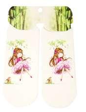جوراب دخترانه طرح دختر کد SCb53 -  - 2
