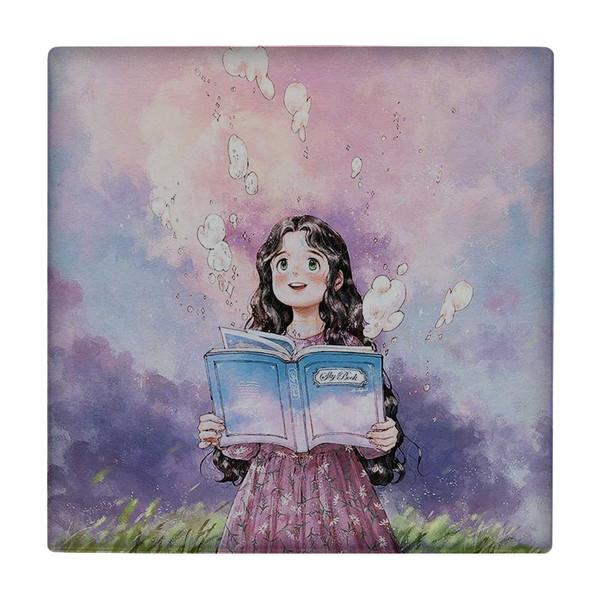 کاشی طرح دختر کتابخوان کد wk2071