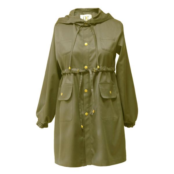 بارانی زنانه درس ایگو کد 10700019 رنگ سبز
