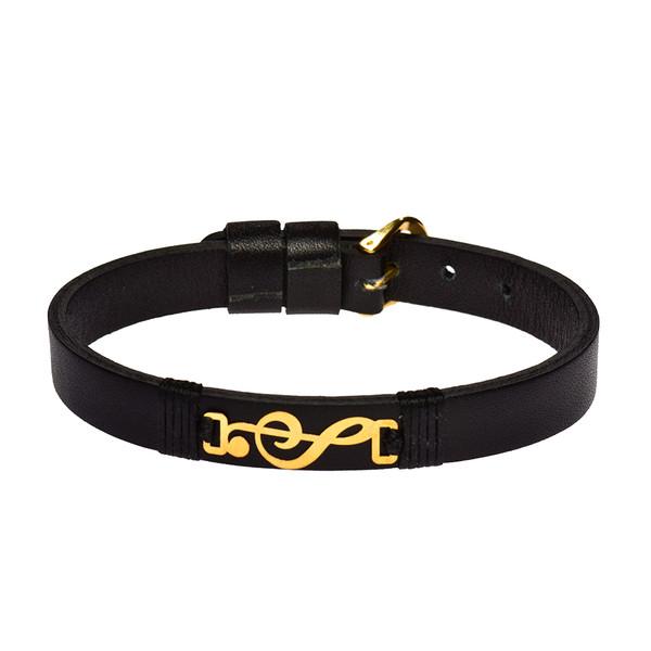 دستبند طلا 18 عیار زنانه کرابو طرح کلید سل مدل Kr1047
